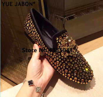 Luxury gold rhinestones sneakers Slip on bling bling mixed color flat shoes crystal women casual shoes footwear dot Loafers - DISCOUNT ITEM  46% OFF All Category