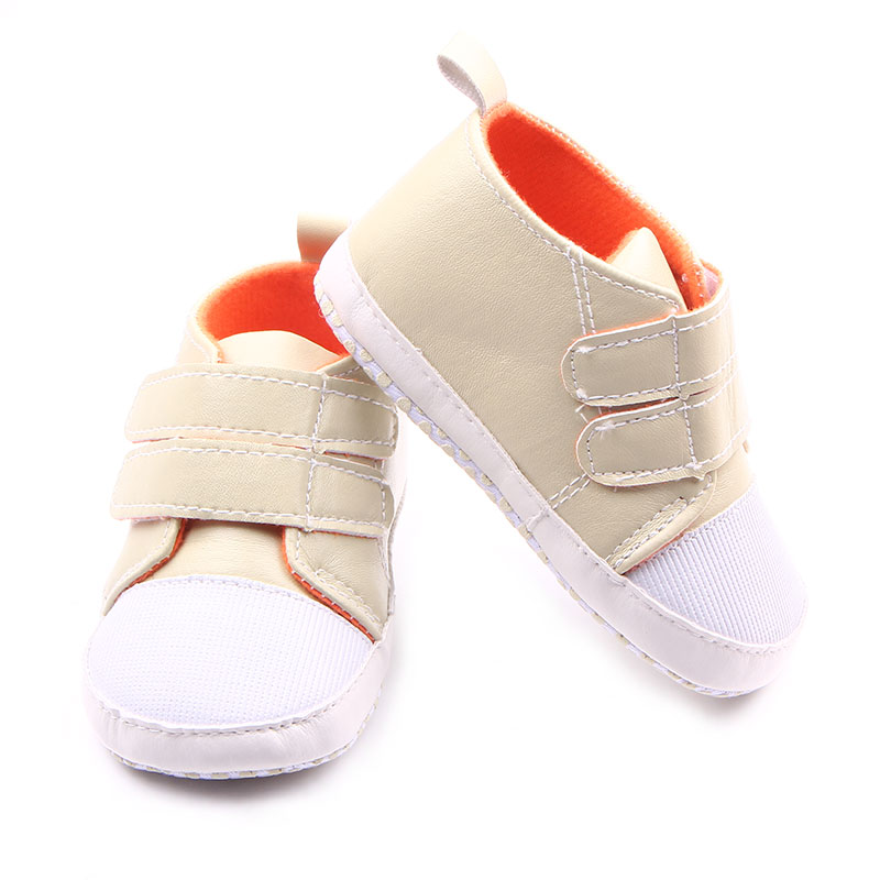 New Fashion Solid Hook & Loop Design Baby Sports Shoes Infant Frewalker Shoes Baby Boys Shoes For 0-15 Months