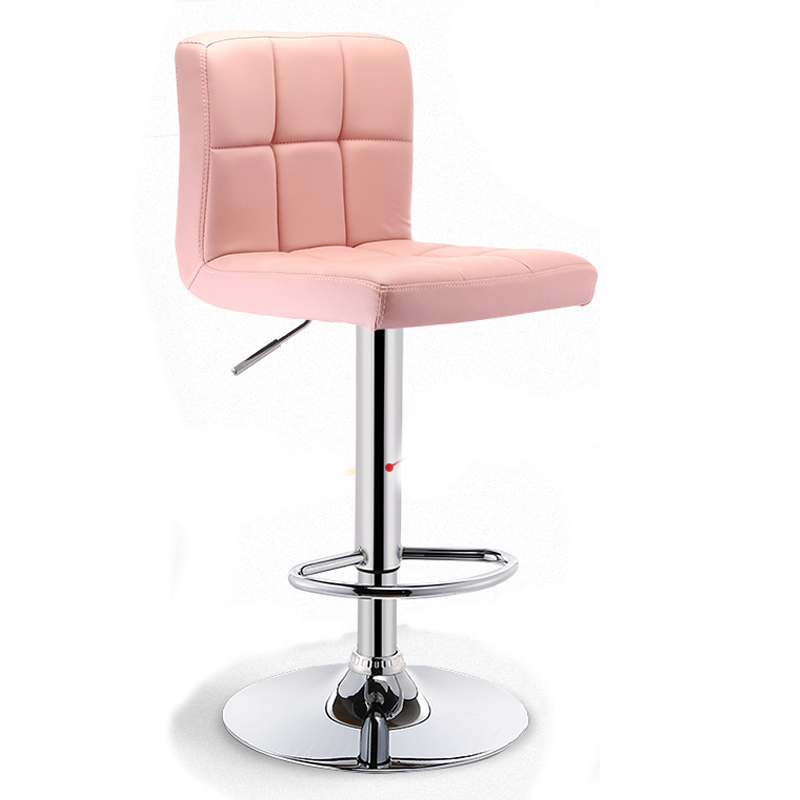 Hot Bar Chair Lifting Tools Modern Minimalist  High Stool With PU Back  Barstools  Bar Stools Modern