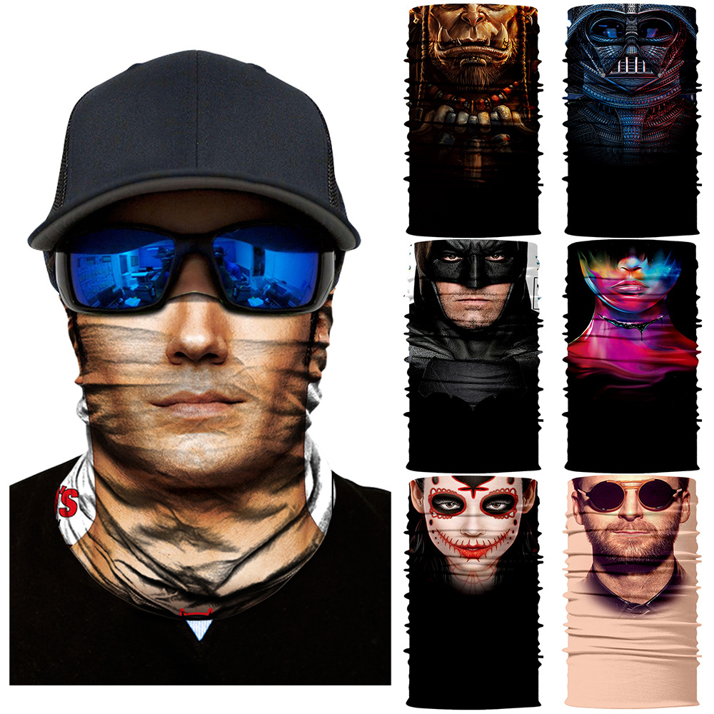 3D Ski Mask Headband Neck Gaiter Skull Women Mascarilla Magic Scarf Windproof Hunting Camping Face Mask Jokers Seamless Bandana