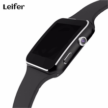 "Leifer Smart Watch X6 For Men Android Phone 1.54"" HD OGS Wrist Bracelet Support Max TF Card 32GB Sim Bluetooth Smartwatch"