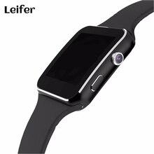 Лейфер Смарт-часы X6 для Для мужчин телефона Android 1.54 »HD OGS запястье браслет Поддержка Макс карты памяти 32 ГБ SIM Bluetooth SmartWatch