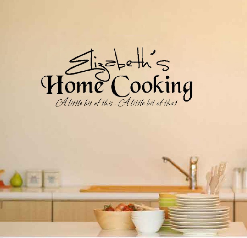 Personalized Name Customer Family Home Cooking Kitchen Wall Decal Quote  Sticker In Wall Stickers From Home U0026 Garden On Aliexpress.com | Alibaba  Group