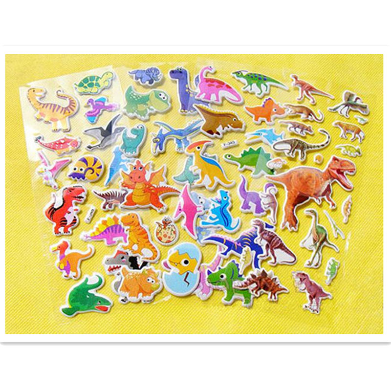 US $4 99 |free shipping 10 sheets dinosaurs anime 3D foam stickers party  supplies decoration kids gifts children toys boys animals sticker-in  Stickers