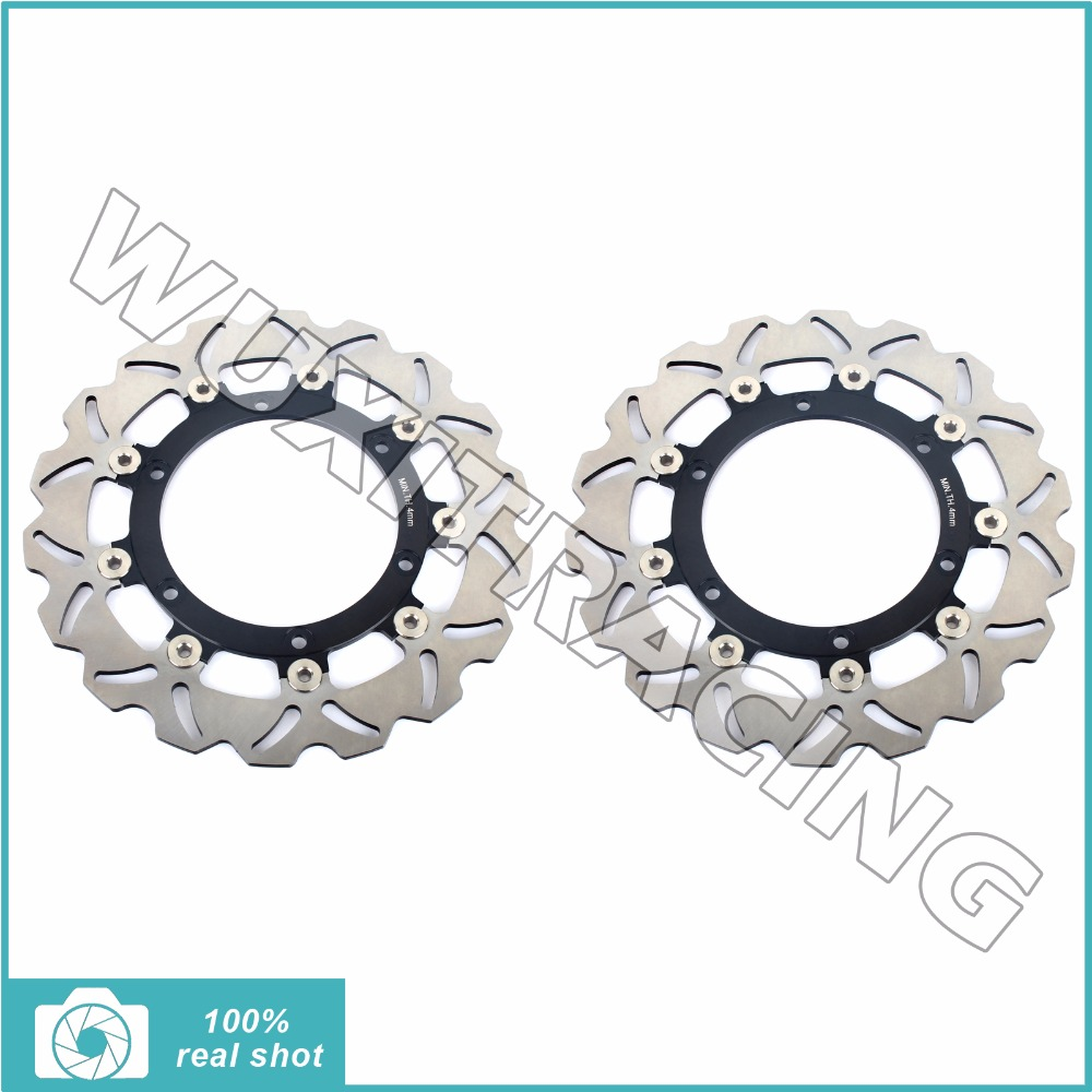 2001 2002 2003 2004 2005 2006 2007 2008 Front Brake Discs Rotors for APRILIA ETV 1000 ETV1000 Capenord / ABS Rally Raid / ABS 2001 2002 2003 2004 2005 2007 full set motorcycle new front rear brake discs rotors for honda cbr600f cbr 600 f supersport f4