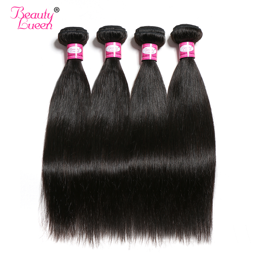 Straight Hair Bundles Brazilian Hair Weave 4 Bundles Deal Natural Color 8 28 Inches Non Remy
