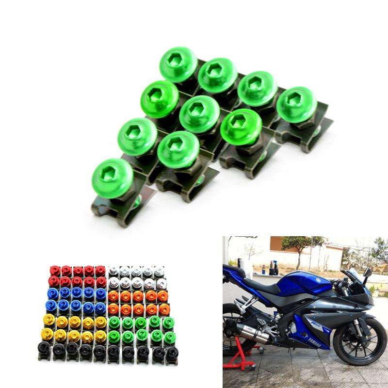②10 unids 6mm CNC motocicleta cuerpo carenado Tornillos para Honda ...