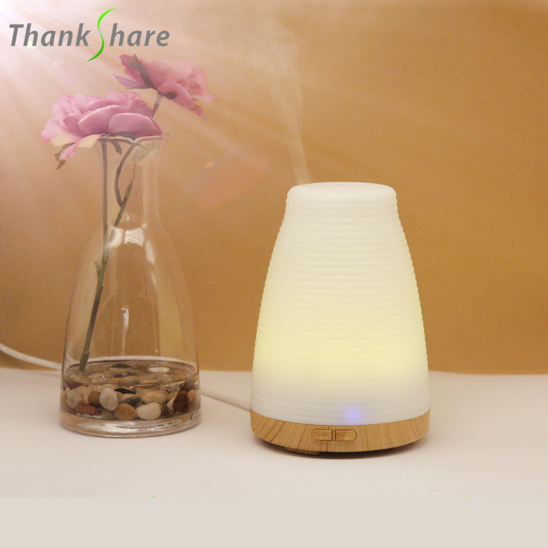 THANKSHARE 100ML Diffuser Colorful Mini Humidifier Air Electric Aromatherapy Essential Oil Aroma Diffuser For Home Office