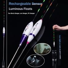 Rechargeable Luminous Float Sensor Fishing Floats Composite Nano Flotador Pesca Stoppers Fishing BobbersTool Accessories Tackles