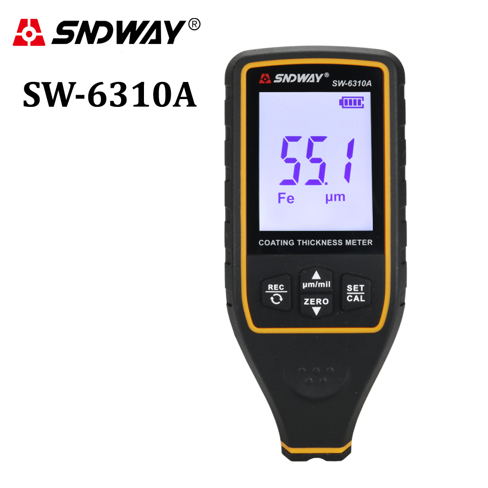 Digital Paint Coating Thickness Gauge Car detector Refinishing Paint micrometer Automotive Coating test high precise probe