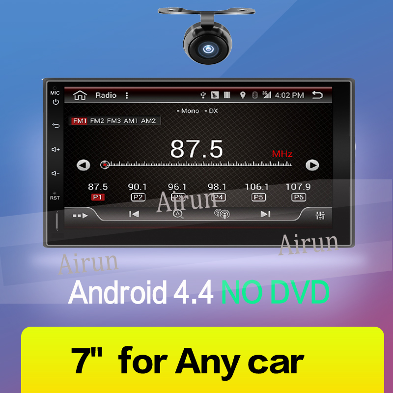 2017 NEWEST Universal 7'' Double 2 Din Touch InDash Car Stereo DVD Player BT GPS Navigation free map 2 din car radio mp5 player universal 7 inch hd bt usb tf fm aux input multimedia radio entertainment with rear view camera