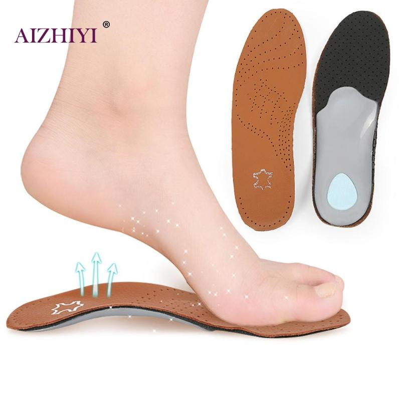 Insoles Breathable Comfortable Leather Silicone Insole Orthotic Arch Support Insole Flat Foot Corrector Shoe Cushion Pad Insert Hot Sale Moderate Price Shoe Accessories