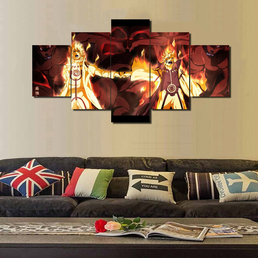 Living Room Canvas Paintings Popular Naruto Canvas Art Buy Cheap Naruto Canvas Art Lots From