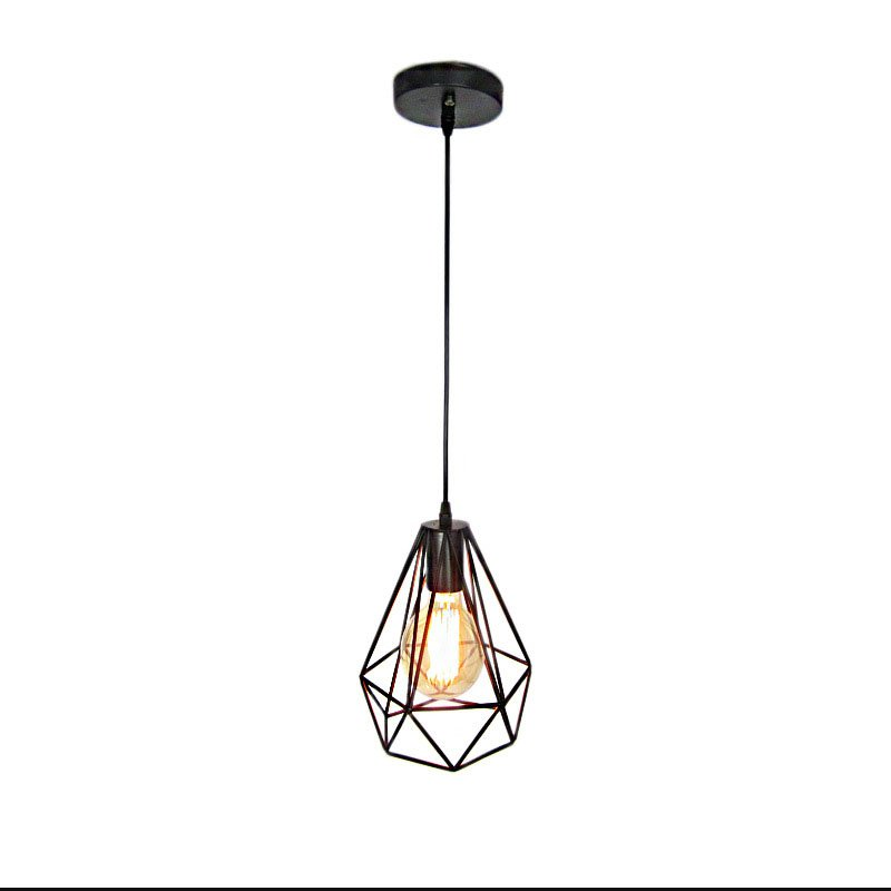 Personality Creative Diamond Style E27 Pendant light Retro Iron industrial Wind Pendant lamp for Clothes/Coffee Shop Restaurant edison loft style vintage light industrial retro pendant lamp light e27 iron restaurant bar counter hanging chandeliers lamp
