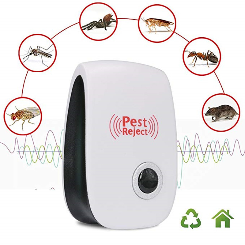 Home Electronic Ultrasonic Pest Repeller Mosquito Rejector Mouse Repellent Anti Mosquito Repeller Killing Pests EU UK US AU PLUG