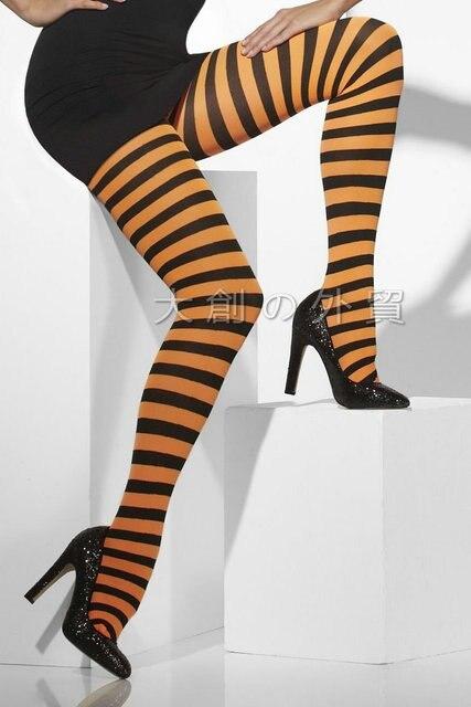 0cc6d9f19 Sexy Listrado Meias de Alta Elasticidade Meia-calça de Palhaço Cosplay  Chrismas Party Mulheres Colorido