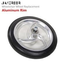 Jaycreer 7 дюймов Алюминий обод колеса замена для инвалидной коляски, роляторы, ходунки и многое другое