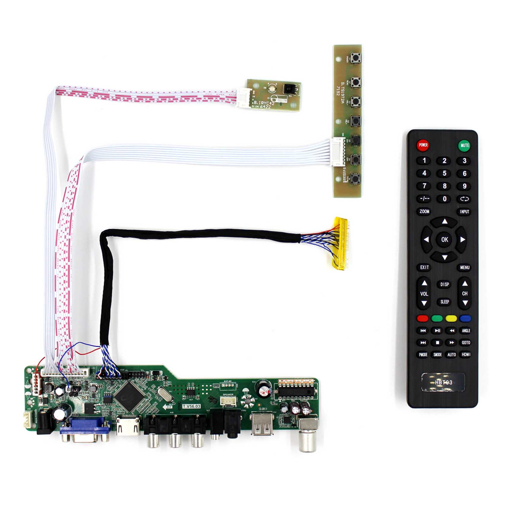 TV HDMI VGA AV USB AUDIO LCD Controller Board Work for 8 9inch 10inch CLAA089NA0ACW HSD100IFW1