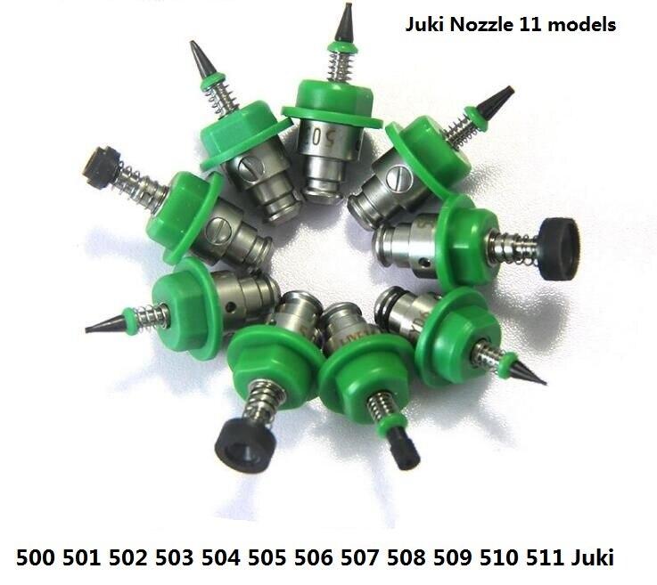 Factory Wholesale Price 11PCS SMT Machine Part Juki Nozzle 500,501,502,503,504,505,506,507,508,510,511 SMT Juki Series Nozzles
