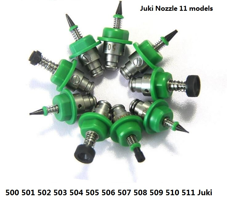 Factory Wholesale Price 11PCS SMT Machine Part Juki Nozzle 500,501,502,503,504,505,506,507,508,510,511 Series Nozzles