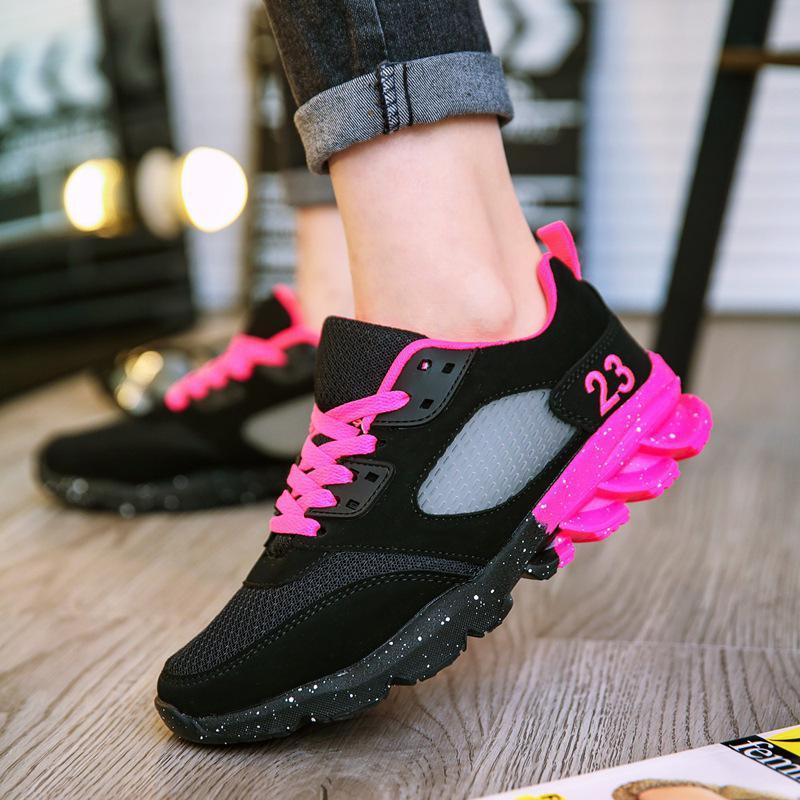 Formateurs 2018 moonlight Feminino Casual Tenis Chaussures Mode pink Femme Suede forme Coréenne Panier Sneakers Black Femmes Dames Noir Plate FqxwrEHnq