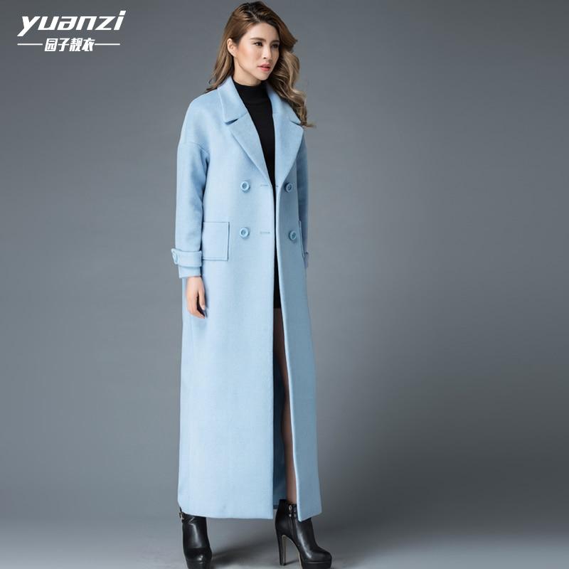 Elegant Cashmere Coat Female 2019 New Women Winter Coats Simple Fashion Large Sizes Overcoat Women's Solid Color Long Wool Coat