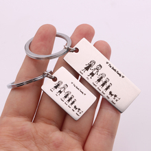 Engraved Keyring-Bag Present Customized Key-Chain Charm Parents Pets Name Family Love