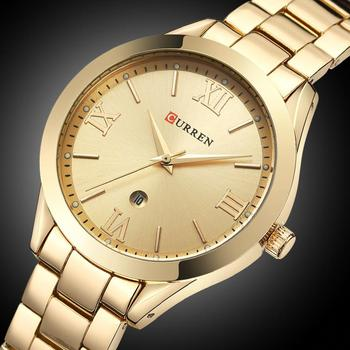 CURREN Women´s Top Brand Luxury Casual Rose Gold Steel Classic Dial Ultra-Thin Quartz Watches 3