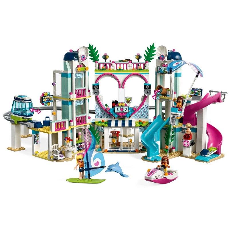 LELE 1039 pièces Heartlake Ville Station Fixe Modèle Kits de Construction Blocs Briques jouet de fille Cadeau comme Avec LegoING Amis