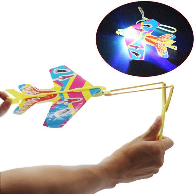 DIY Flash 2018 свет самолет эжекция циклотрон Рогатка самолет для детей игрушки brinquedos brinquedo menino магические треки подарок