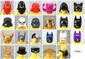 10 unids/lote minifig tocados accesorio casco de la máscara de diy moc legolike figuras parte de star wars building blocks juguetes para niños de regalo