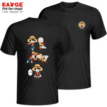 An Impossible Fusion Between Monkey Luffy And Saitama T Shirt Pop Funny Creative T-shirt Punk Brand Cool Unisex Cotton Black Tee