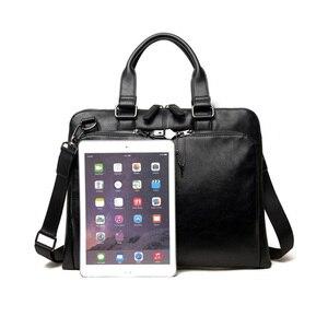 Image 2 - VORMOR Brand Men bag Casual mens briefcase 14 inch laptop Handbag shoulder bag PU leather mens office bags 2019