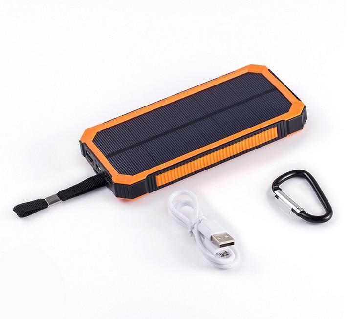 LiitoKala Solar Poverbank Phone For Xiaomi Iphone Power Bank Charger Battery Portable Mobile Pover Bank Mi