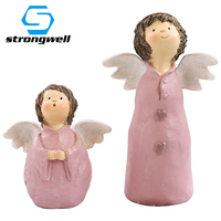 Creativel Angel Resin Crafts Model Figurines Cartoon Miniatures Home Room Weeding Decoration Accessories Birthday Gift Kids Toy