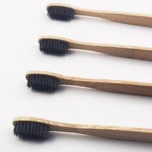 100 шт. тонкий махнул Стиль бамбук Зубная щётка дерево Зубная щётка Новинка бамбука мягкой щетиной из бамбукового волокна деревянной ручкой