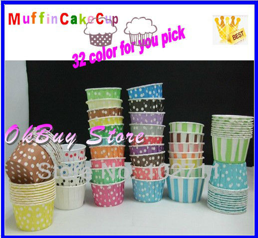 4000pcs larger 50*39mm Candy Muffin CupCake Baking cake <font><b>cups</b></font> dot Striped cupcake liners muffin <font><b>cups</b></font> cake molds <font><b>party</b></font> wedding