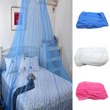 1Pc Solid Color Eleghant Round Top Insect Bed Canopy Netting Curtain Dome Mosquito Net(China)