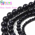 2017 new 4 6 8 10 12mm Round Blue sand Beads Natural Stone Bead Spacer Loose Bead For DIY Bracelet Jewelry making Findings