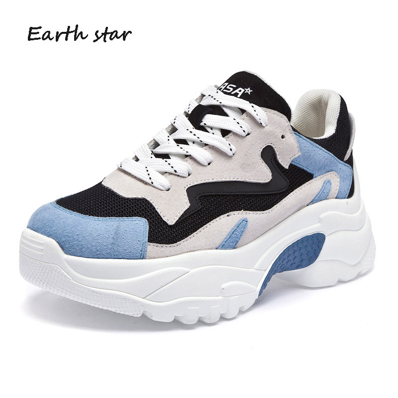 ... Brand footware Sneaker Good Girl EARTH Cross STAR Lady Female chaussure  Quality Platform Shoes Women tied ... 1d84162514c5