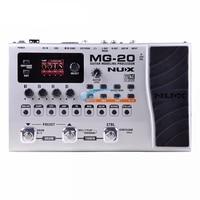 Nux MG 20 Guitar Modeling Processor LCD Digitech Multi Effect Pedal 60 Effector Modules 72 Preset Guitar Accessories Guitar Part