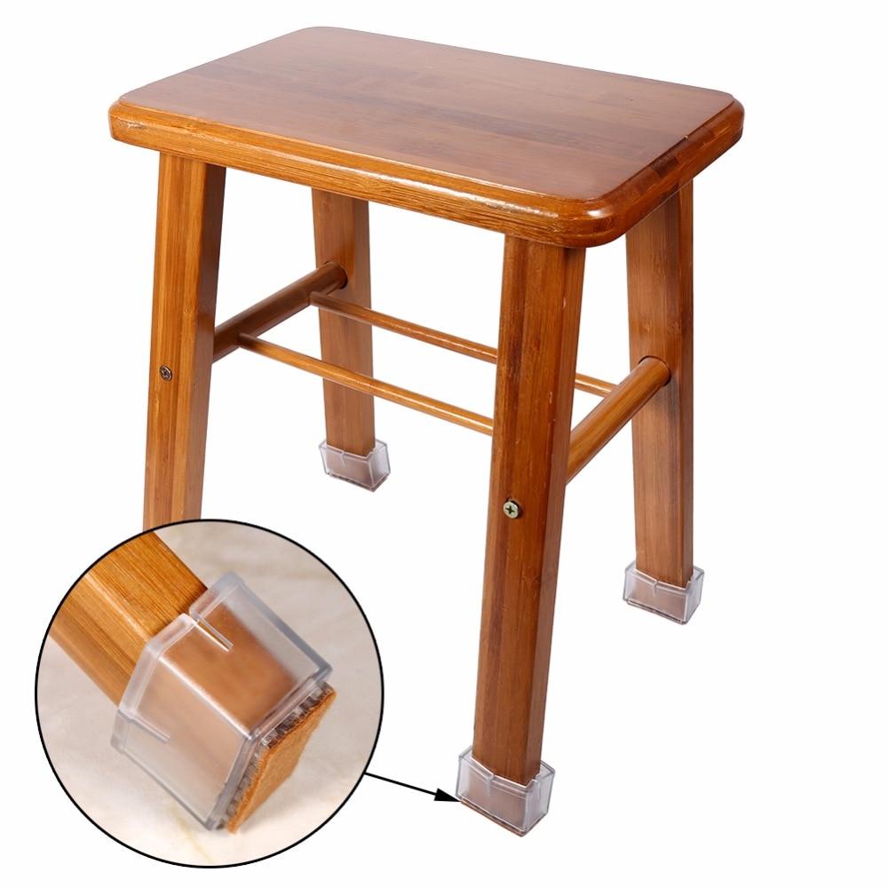 Durable 8pcs lot square chair leg caps rubber desk feet for Furniture leg pads lowes