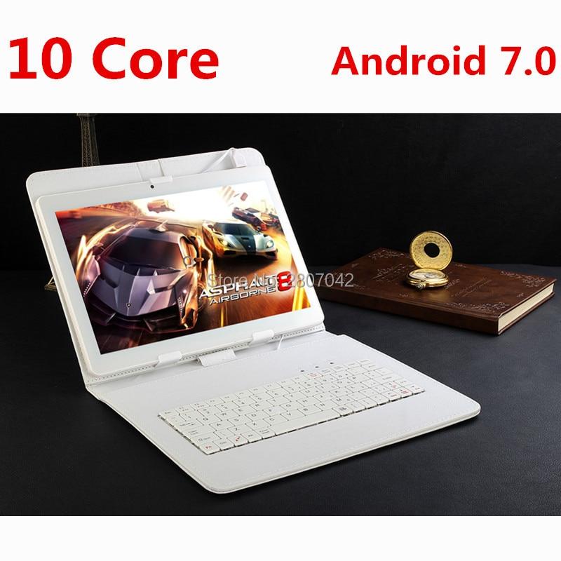 Google Android 7.0 10.1 pouce tablet Deca Core 4 gb RAM 128 gb ROM 4g FDD LTE 1920x1200 IPS 8.0MP Double SIM Cartes Tablet 10.1 Ordinateur Portable