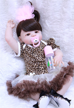 55cm Full Body Silicone Reborn Girl Baby Doll Toys Lifelike Baby-Reborn Doll Child Birthday Christmas bebe Gift reborn bonecas 55cm lifelike boneca reborn baby doll soft real touch full silicone toys for children birthday gift crooked mouth doll kids
