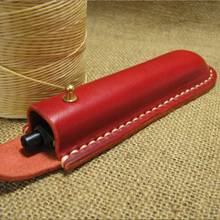 High-level Handmade genuine leather Pencil Case Bags pencil Pouch Pen Storage Box Bag Business travel office supplies 1285B
