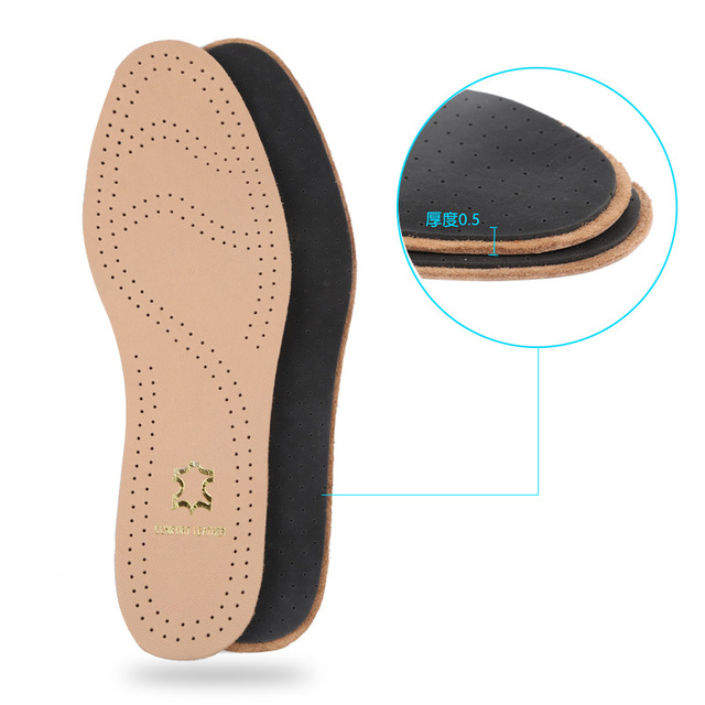 2017 New Leather Insoles For Shoes Breathable Deodorant Foot Pad Head Layer Sheepskin Shoe Insole Accessories Health Cushions