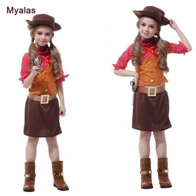 Madchen Cowboy Cosplay Kostum Fur Halloween Kostum Fur Kinder Kinder