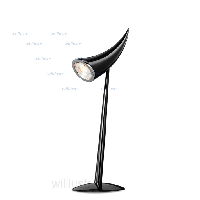 Modern Ara Table Lamp Philippe Starck Design Table Lighting Chrome Black  White Color Desk Light Reading Horn Lights Minimalist In Desk Lamps From  Lights ...