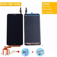 Display For Alcatel Pop 4 Plus 5056D OT5056D OT5056 5056 5056A LCD Display Touch Screen Complete Original LCD Display Assembly