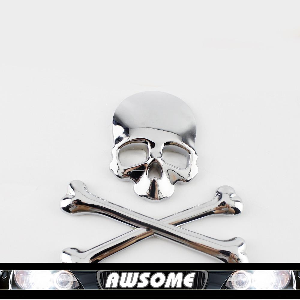 Bumper sticker creator uk - 1x 3d Diy Car Decal Skull Bone Stickers Decal Emblem Maker For Car Auto Suv Body